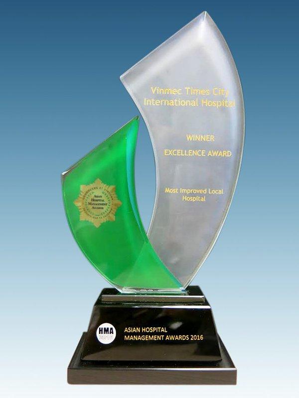 "Vinmec was awarded ""Vietnam's Most Improved Hospital"" by Asian Hospital Management Association"