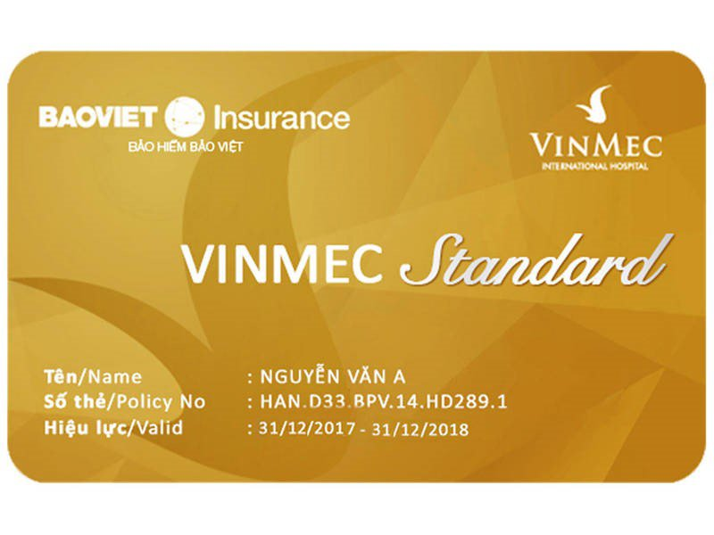 thẻ bảo hiểm standard