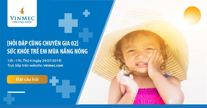 Banner sức khỏe trẻ em mùa nắng nóng