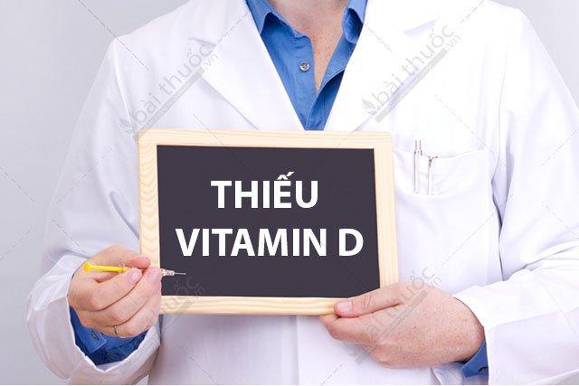 Thiếu vitamin D gây bệnh gì