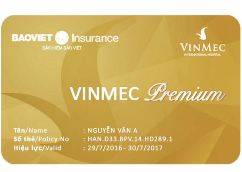 Thẻ bảo hiểm sức khỏe Vinmec Premium