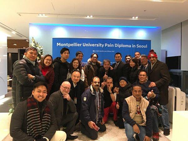 Thực hành về điều trị đau tại Đại học Montpellier and Seoul, Hàn Quốc
