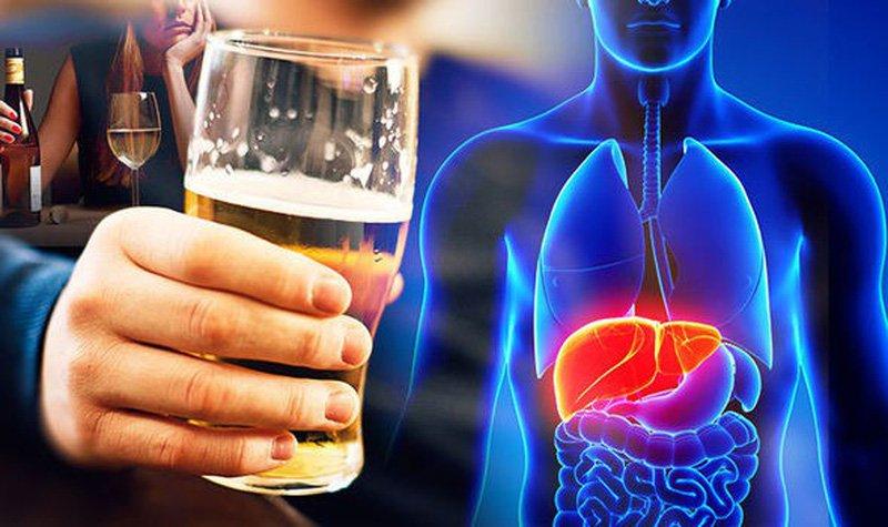 Tác hại của rượu bia tới gan
