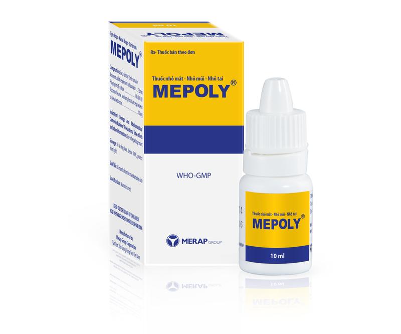 Thuốc nhỏ mũi Mepoly: Công dụng, liều dùng, tác dụng phụ