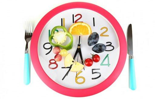 ăn uống điều độ đúng giờ
