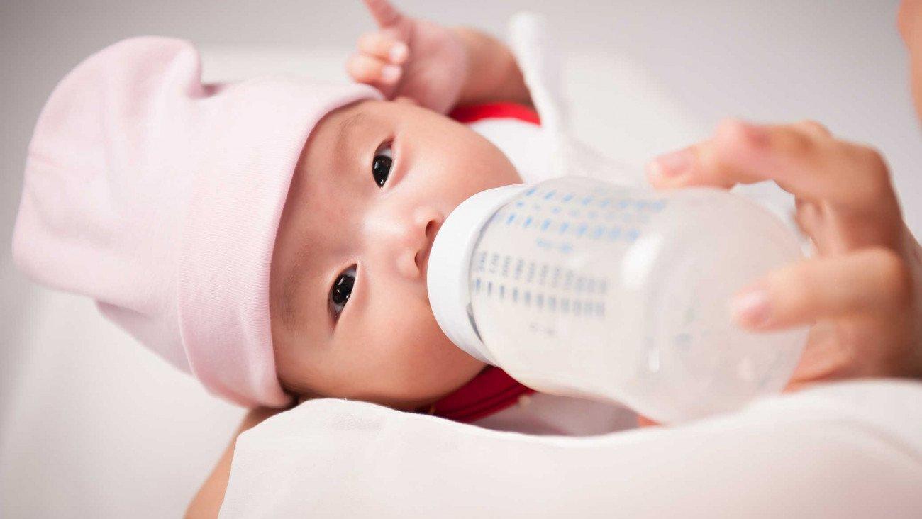 bú bình, bú sữa