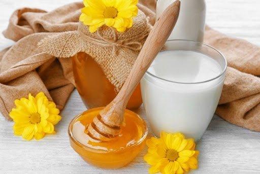 mật ong với sữa