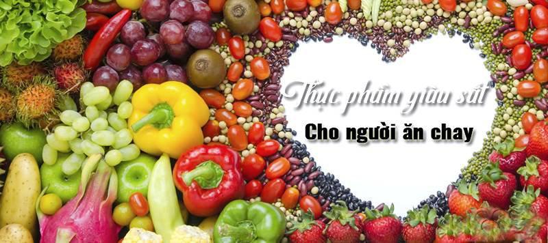 thực phẩm chay chứa nhiều sắt
