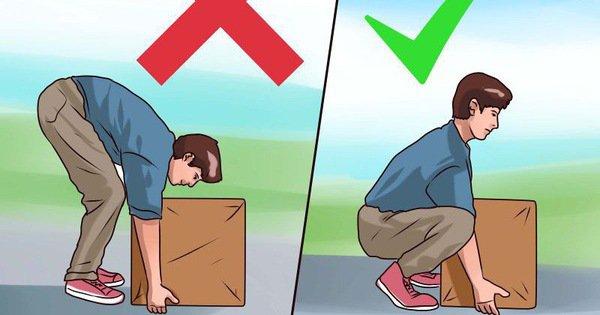 Những động tác sai tư thế trong sinh hoạt thường nhật có thể gây tình trạng thoát vị đĩa đệm