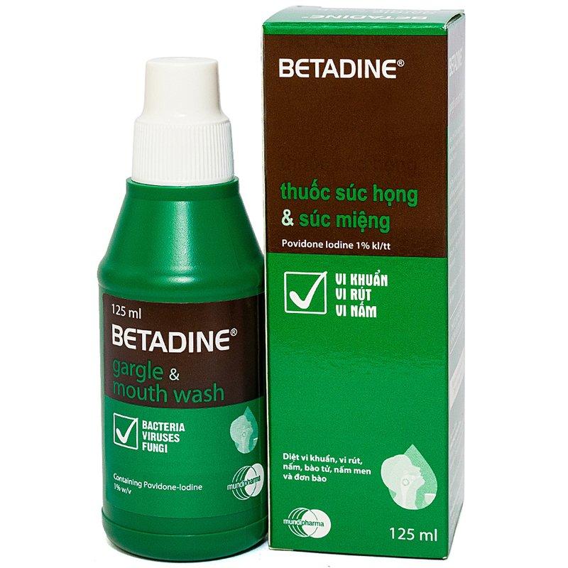 thuốc súc miệng, súc họng BETADINE® 1%