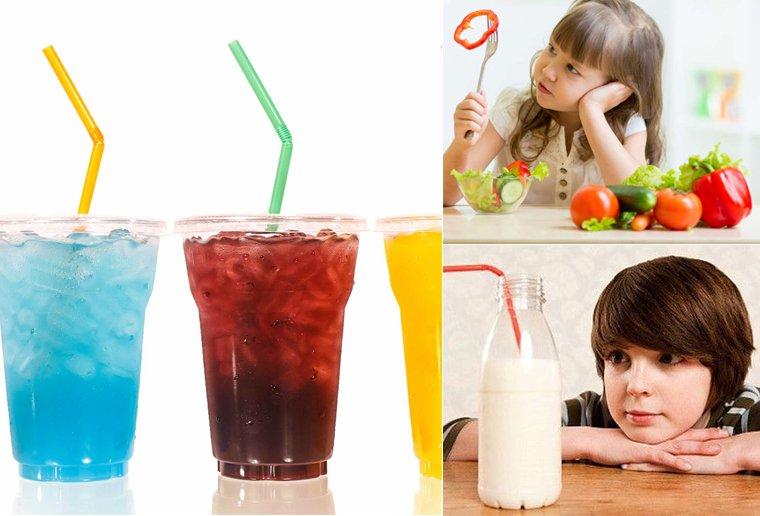 Hạn chế cho trẻ uống nhiều đồ ngọt