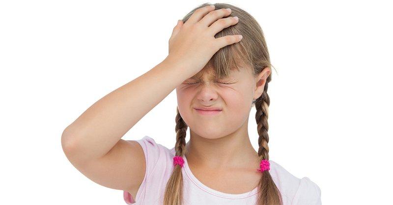 Trẻ bị đau đầu