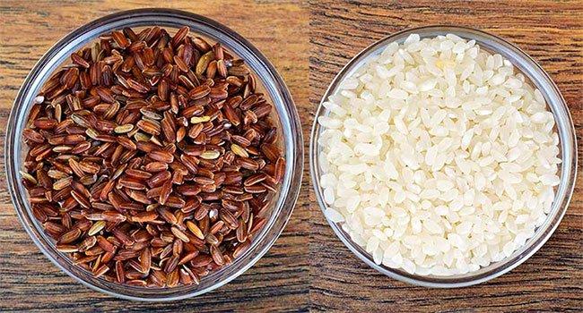 Sự khác nhau giữa gạo lứt và gạo trắng?