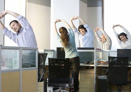 tập thể dục giữa giờ làm việc