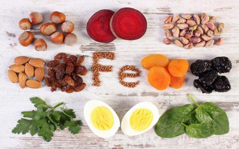 hấp thụ sắt từ thực phẩm