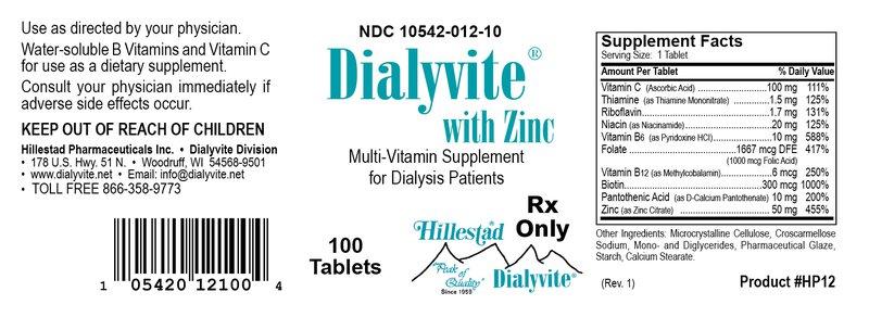 Thuốc Dialyvite ZINC