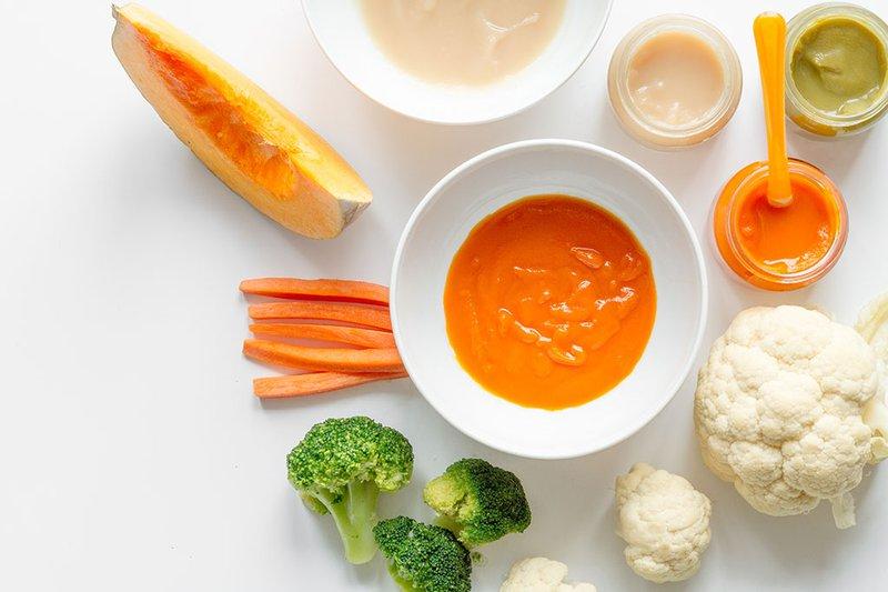 Các loại thực phẩm ăn dặm cho bé 6 tháng