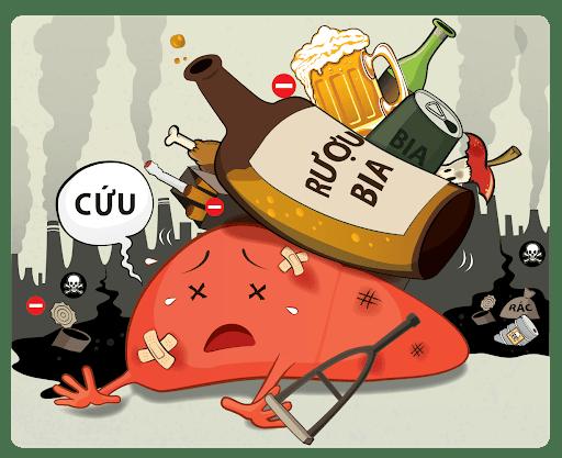 bệnh không lây nhiễm do bia rượu