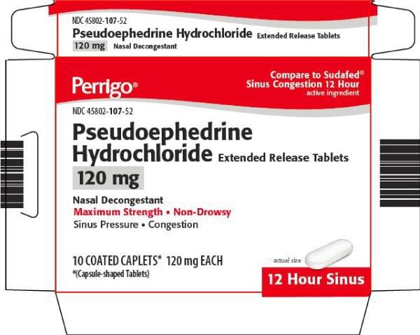 Thuốc Pseudoephedrine ER