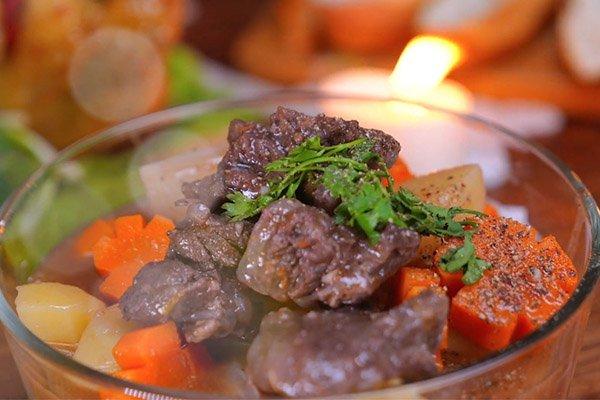 Cách nấu món thịt bò sốt vang