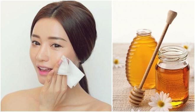 tẩy trang bằng mật ong