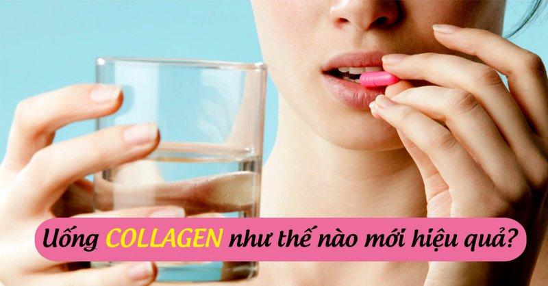 Uống collagen đúng cách