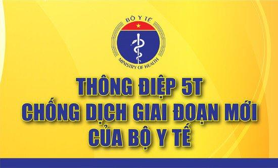 Thông điệp 5T của Bộ Y tế